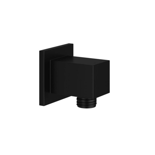 Mono Black Square Outlet Elbow