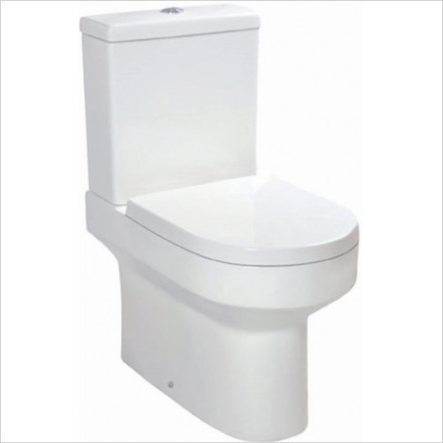 Omni Close Coupled WC Inc Soft Close Seat - COMFORT HEIGHT