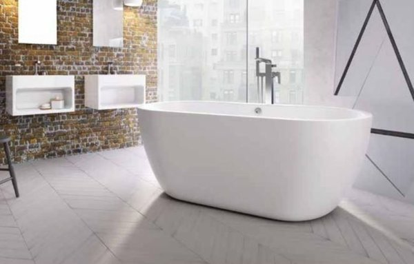 San Marlo Freestanding Bath 1655 x 750 White