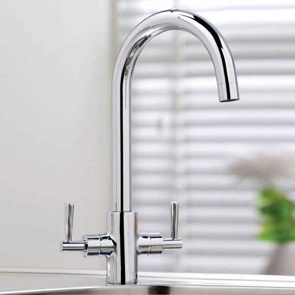 Kingston Kitchen Tap Twin Lever
