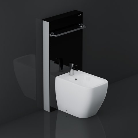 Rak Obelisk Cistern Cabinet For Back To Wall Bidet Black