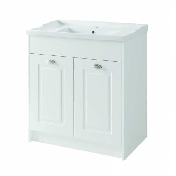 Astley Traditional White Bathroom Toilet and Basin Set