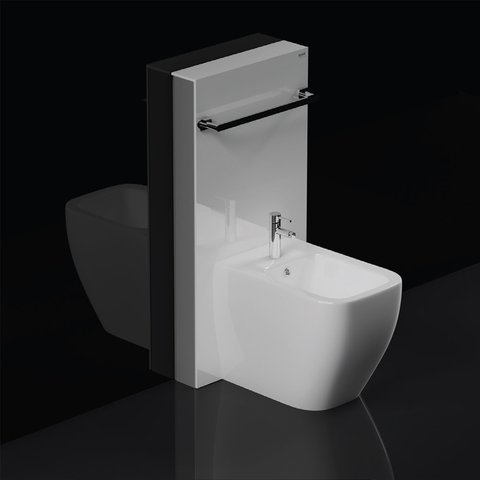 Rak Obelisk Cistern Cabinet For Back To Wall Bidet White