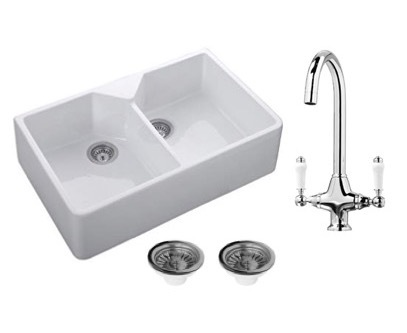 Double Belfast Sink, Wastes + Tap Package 1