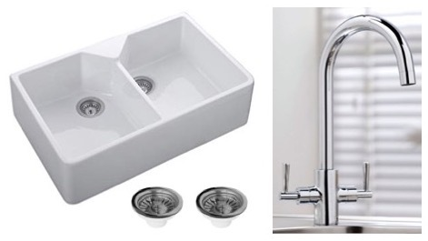 Double Belfast Sink, Wastes + Tap Package 2